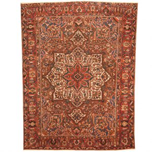 PERSIAN HAND-KNOTTED SEMI-ANTIQUE 1940S TRIBAL BAKHTIARI WOOL RUG